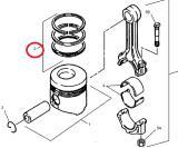 Pístní kroužky motoru Mitsubishi