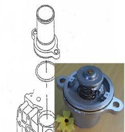 Termostat s konektorem Caterpillar