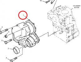 Tìsnìní pøedního víka motoru Caterpillar