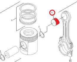 Pouzdro ojnice motoru Caterpillar