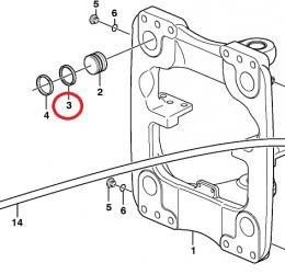 Těsnění brzdy rámu Volvo - zvětšit obrázek