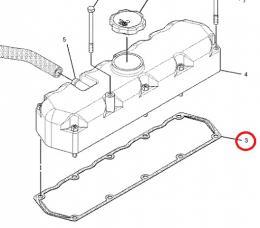 Těsnění víka ventilů motoru Caterpillar - zvětšit obrázek