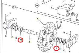 Ložisko pístu napínacího kola JCB - zvìtšit obrázek