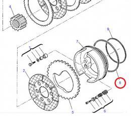 O kroužek nápravy Komatsu