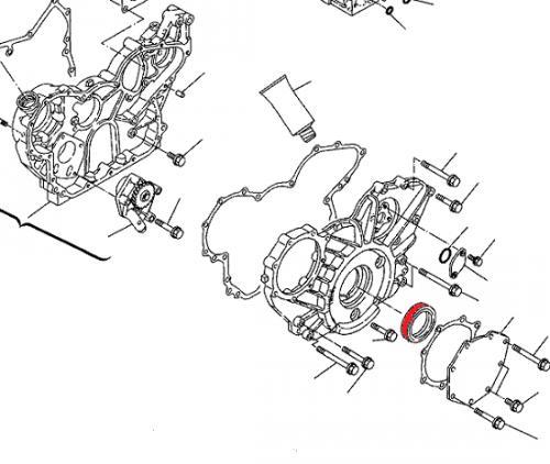 Gufero klikové høídele motoru Yanmar