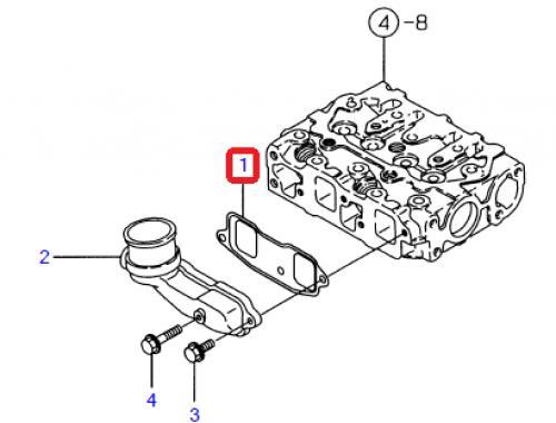 Tìsnìní sání motoru Takeuchi