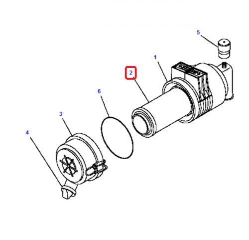 Vzduchový filtr Komatsu