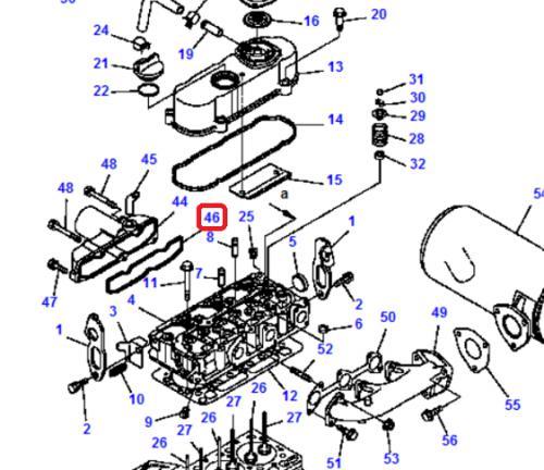 Tìsnìní sání motoru Komatsu
