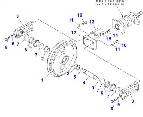 Idler - vodící kolo Komatsu - zvìtšit obrázek