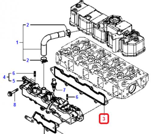 Tìsnìní sání motoru Komatsu - zvìtšit obrázek