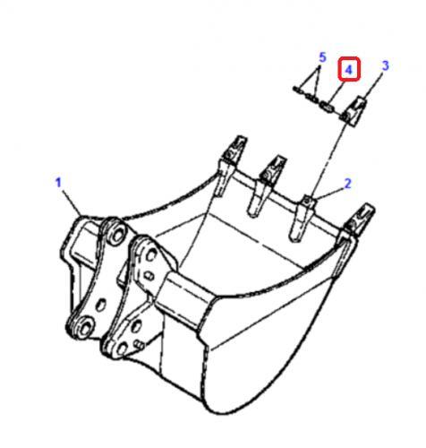 Pojistný kolík korunky Komatsu - zvìtšit obrázek