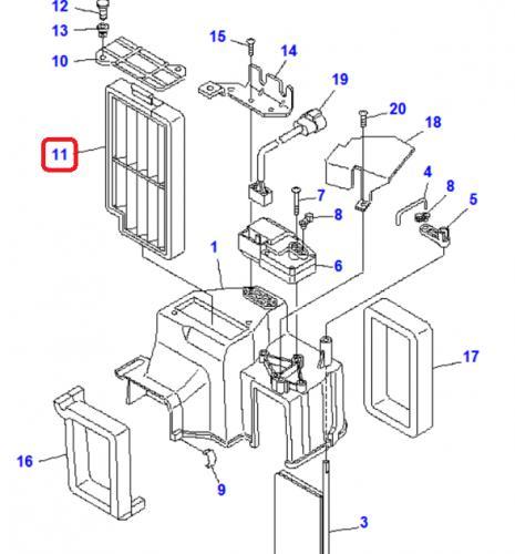 Kabinový filtr Komatsu - zvìtšit obrázek