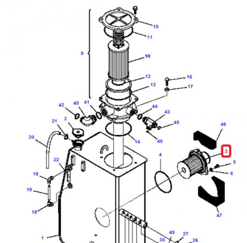 Hydraulický filtr Komatsu