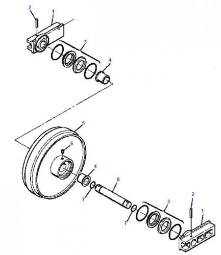 Idler - vodící kolo Komatsu