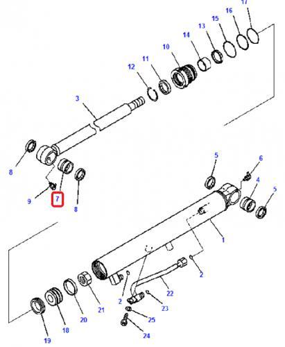 Pouzdro hydraulického válce do oka pístní tyèe Komatsu