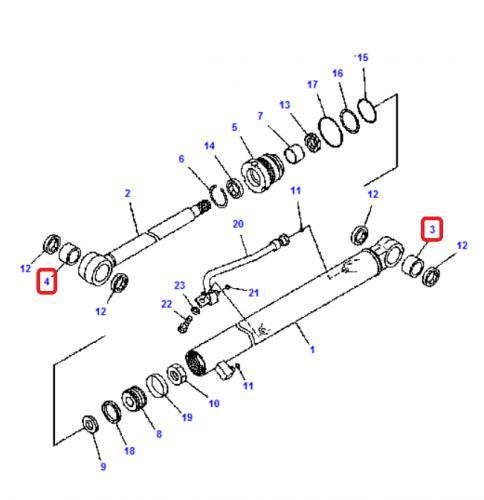 Pouzdro hydraulického válce Komatsu - zvìtšit obrázek