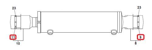Pouzdro hydraulického válce Takeuchi