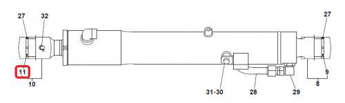 Pouzdro hydraulického válce do oka pístní tyèe Takeuchi