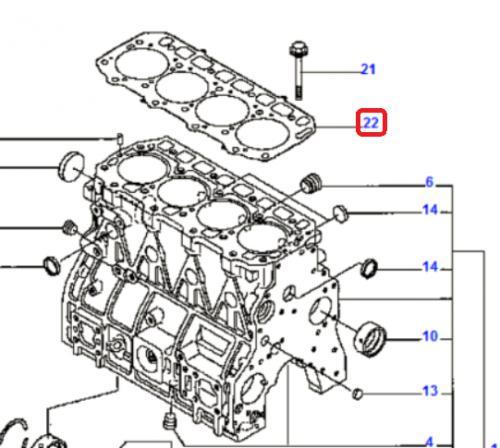 Tìsnìní pod hlavu motoru Komatsu