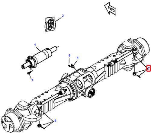 Spojovací tyè Komatsu
