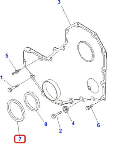 Gufero klikové høídele motoru pøední