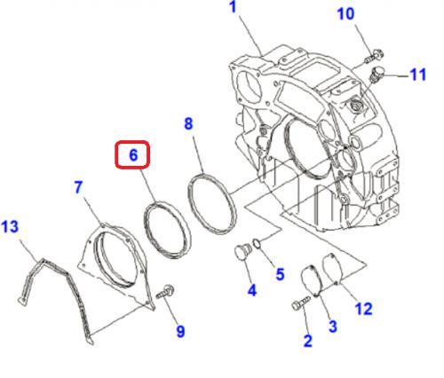 Gufero klikové høídele motoru zadní