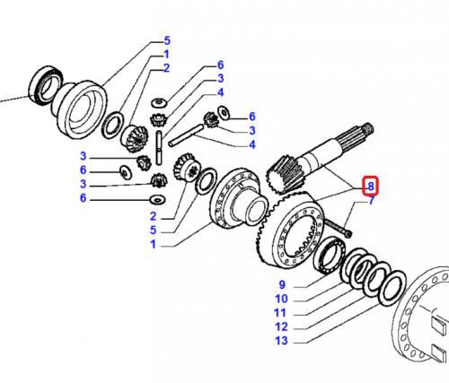 Soukolí diferenciálu hruška + talíø Komatsu