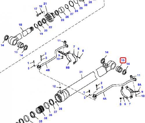 Pouzdro hydraulického válce Komatsu