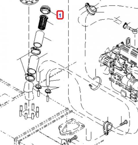 Víèko palivové nádrže Komatsu
