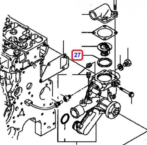 Tìsnìní termostatu Komatsu