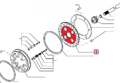 Brzdová lamela Komatsu