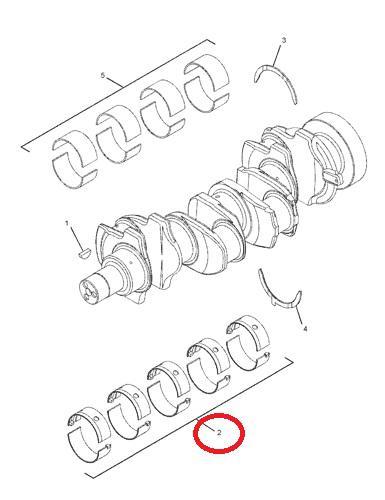 Ložiska motoru hlavní-sada Caterpillar