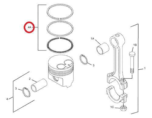 Pístní kroužky motoru STD