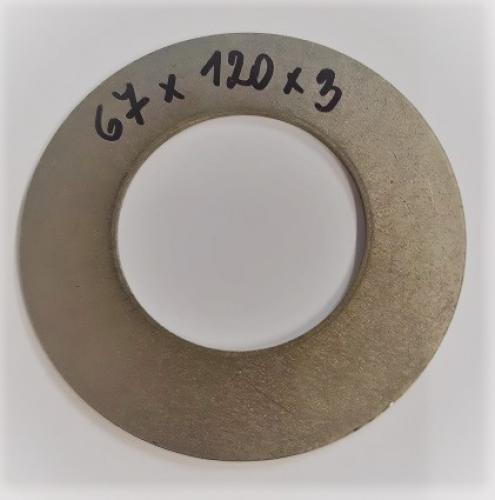 Podložka o 67x120x3 mm